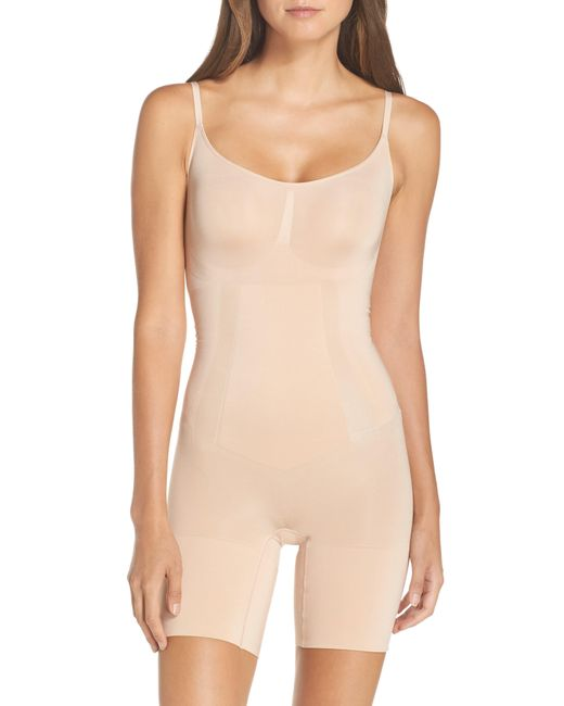 Spanx Natural Spanx Oncore Mid-thigh Bodysuit