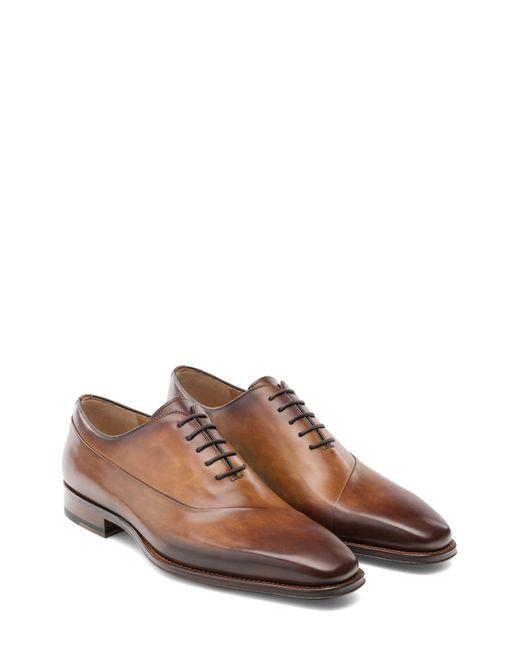 Magnanni Shoes Brown Vaughan Water Resistant Plain Toe Oxford for men