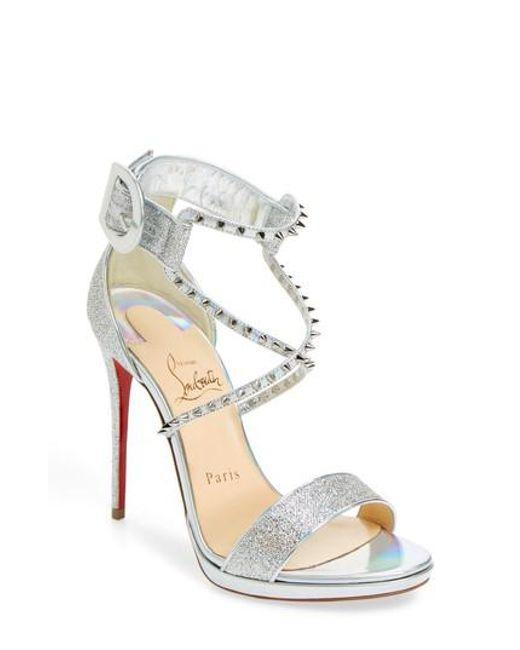 online retailer e9471 08a6a Women's Metallic Choca Lux Spiked Sandal