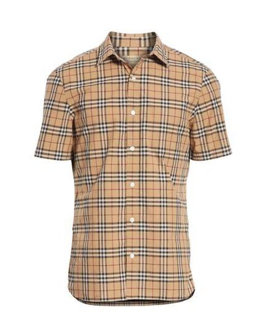 Burberry - Natural Alexander Check Sport Shirt for Men - Lyst