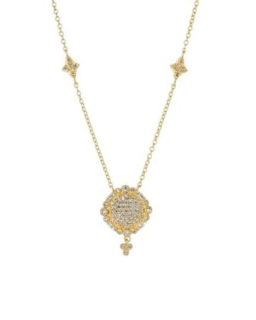 Freida Rothman | Metallic 'mercer' Pave Pendant Necklace | Lyst