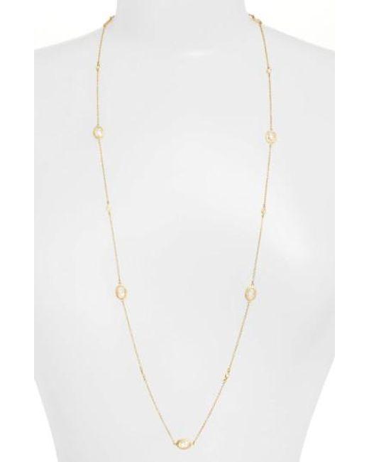 Freida Rothman | Metallic 'mercer' Raindrop Station Long Wrap Necklace | Lyst