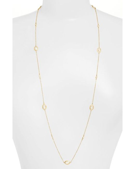 Freida Rothman | Metallic 'mercer' Raindrop Station Long Wrap Necklace | Lyst
