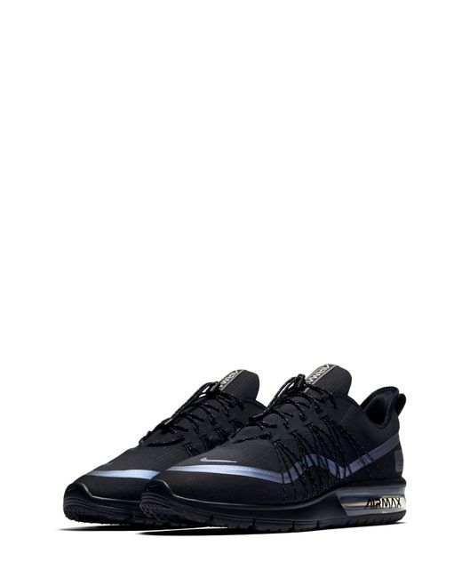 best service 4b853 b3f05 Nike - Black Air Max Sequent 4 Utility Running Shoe for Men - Lyst