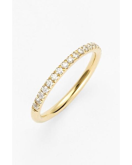 Bony Levy | Yellow 'stackable' Large Straight Diamond Band Ring (nordstrom Exclusive) | Lyst
