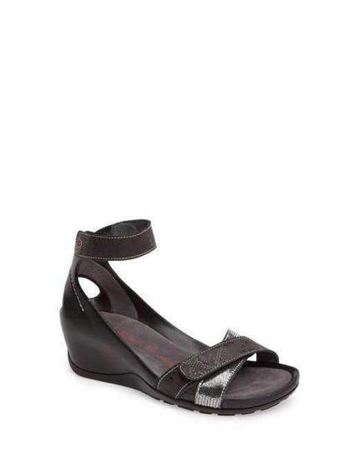 Wolky | Black Do Wedge Sandal | Lyst