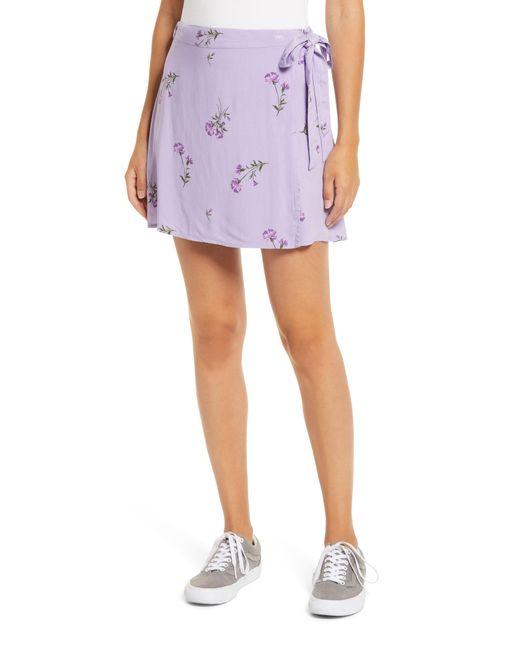 BP. Purple Wrap Miniskirt