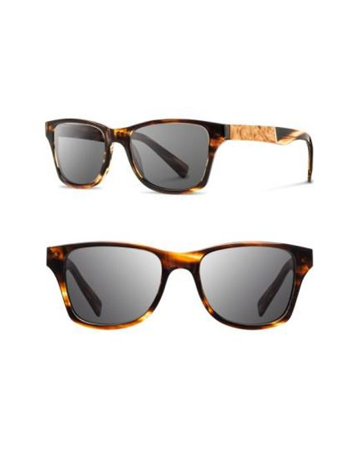 Shwood   Gray 'canby' 53mm Sunglasses   Lyst
