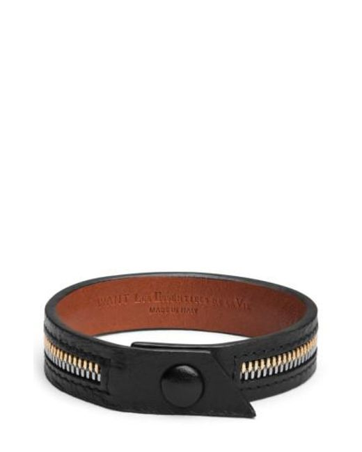 Want Les Essentiels De La Vie | Black 'tambo' Zip Bracelet for Men | Lyst