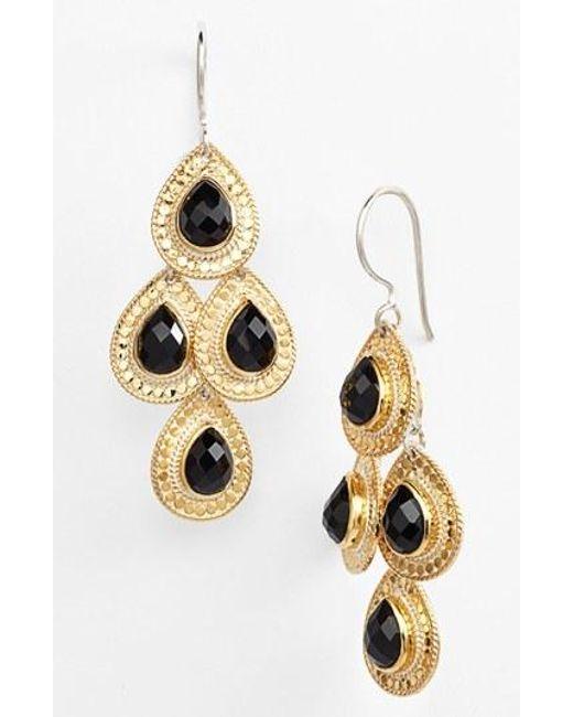 Anna Beck | Black 'gili' Teardrop Chandelier Earrings | Lyst