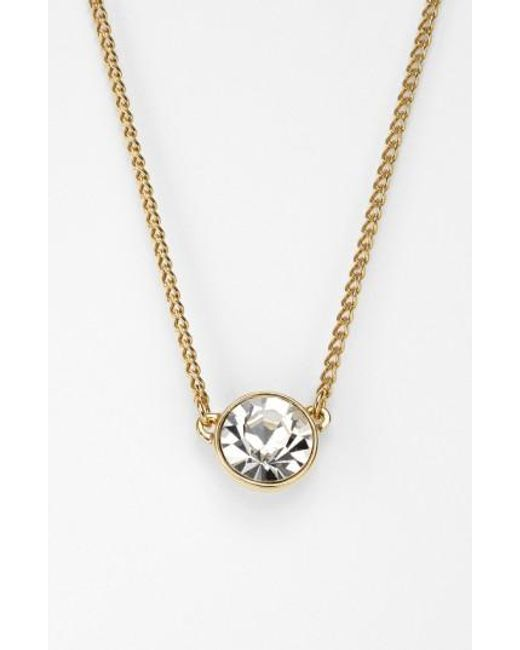 Givenchy | Metallic Crystal Pendant Necklace | Lyst