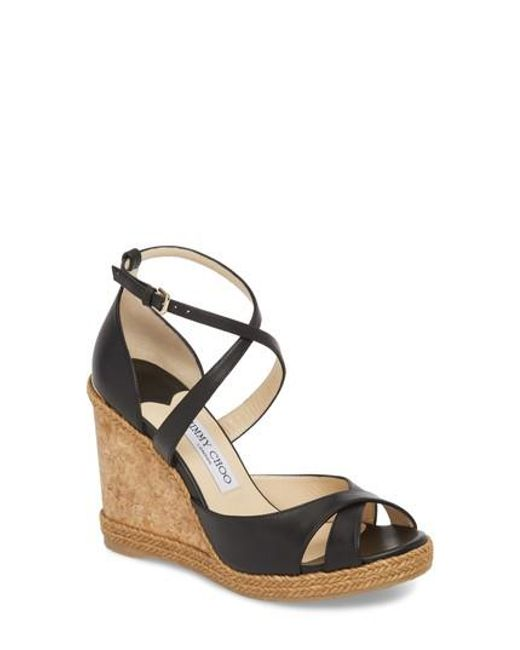 Alanah 80 leather wedge sandals Jimmy Choo London Gc0K6jY