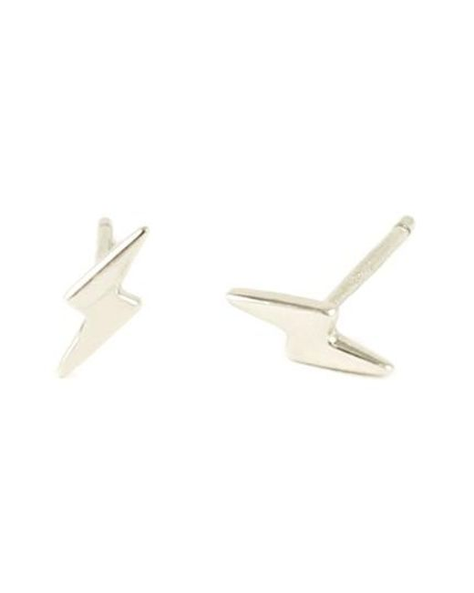Kris Nations - Metallic Lightning Bold Stud Earrings - Lyst