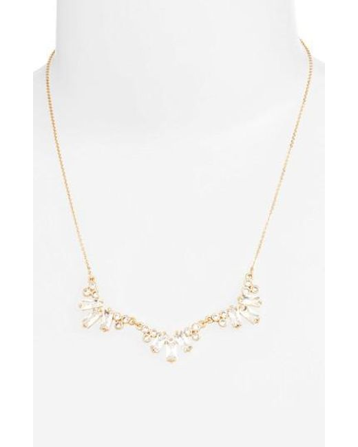 CZ by Kenneth Jay Lane | Metallic Frontal Necklace | Lyst