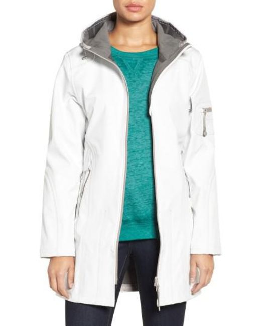 Ilse Jacobsen - Green 'rain 7b' Hooded Water Resistant Coat - Lyst