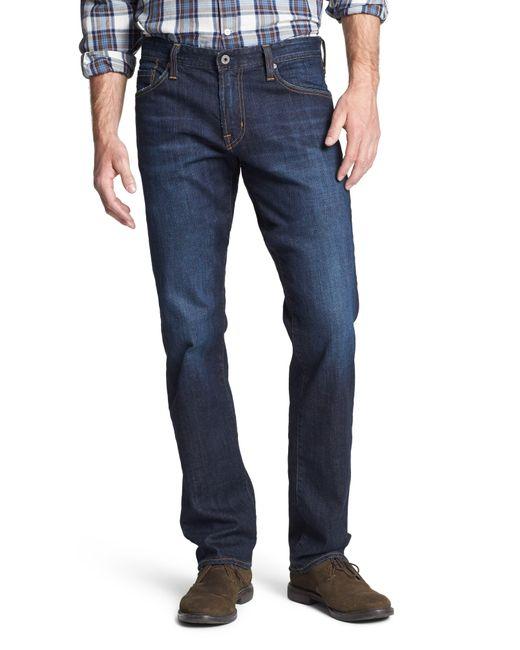 AG Jeans Blue Graduate Slim Straight Leg Jeans for men