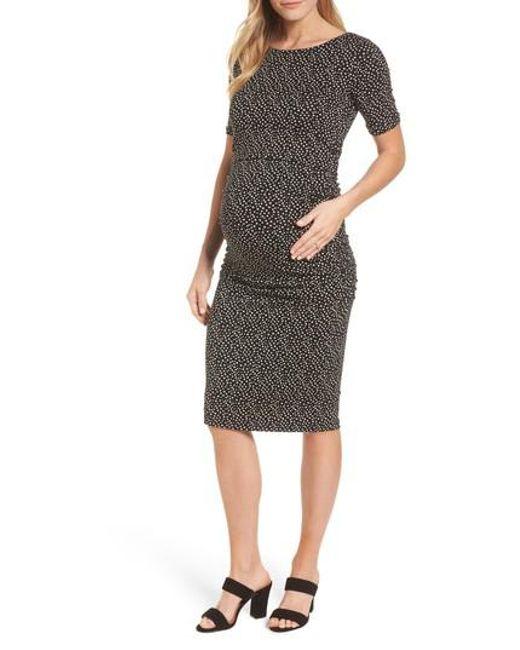 Isabella Oliver - Black Danni Ruched Maternity Dress - Lyst