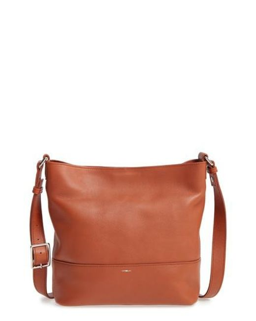 Shinola - Red Small Relaxed Leather Hobo Bag - Lyst