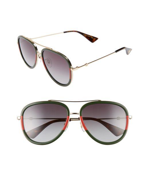 2159ac5ea6 Lyst - Gucci 57mm Aivator Sunglasses - Medium Gold in Metallic for Men