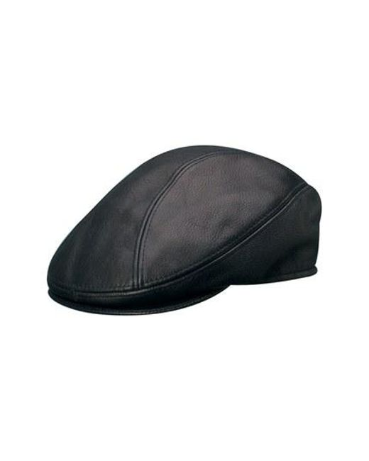 Stetson | Black Leather Driving Cap for Men | Lyst