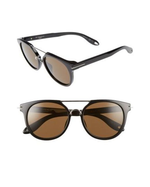 Givenchy - Black 7034/s 54mm Round Sunglasses - Lyst