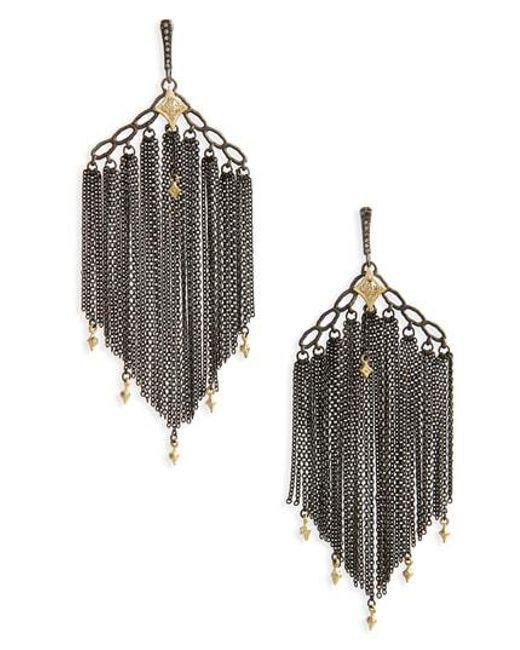 Armenta Old World Chain Tassel Earrings vJIZIEg