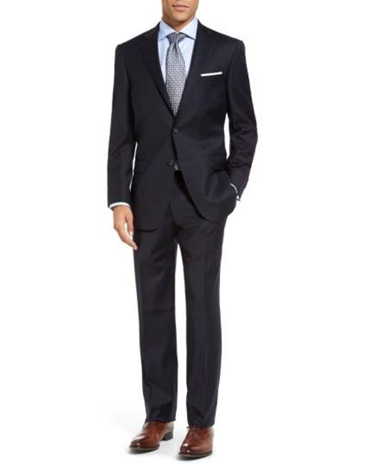 Hart Schaffner Marx   Blue New York Classic Fit Solid Wool Suit for Men   Lyst