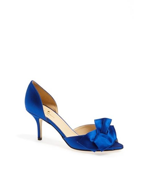 kate spade new york | Blue 'sala' Pump | Lyst