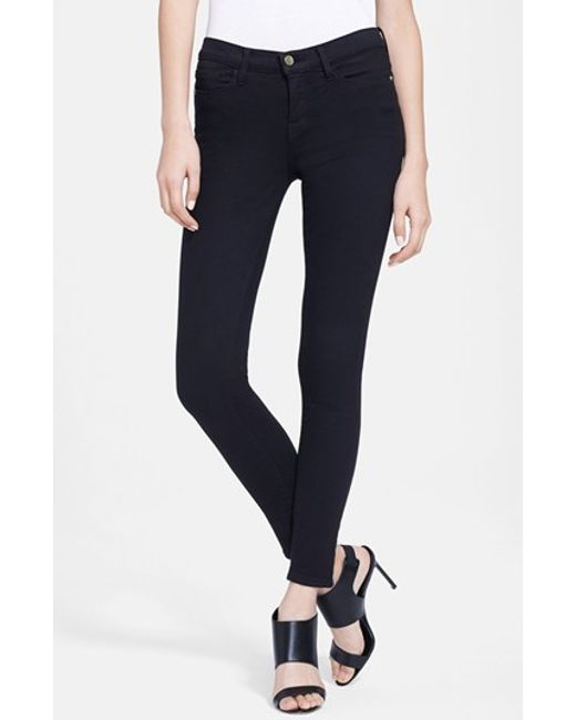 FRAME | Black 'le Color' Skinny Jeans | Lyst