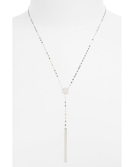 Lana Jewelry   Metallic 'chime' Y-necklace   Lyst
