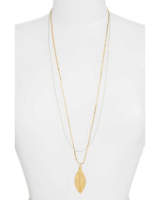 Karine Sultan - Metallic Long Multistrand Necklace - Lyst
