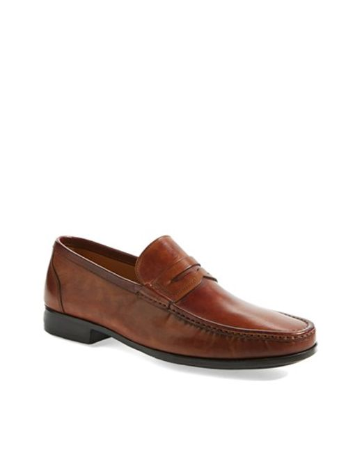 Saks Fifth Avenue | Brown 'ares' Penny Loafer for Men | Lyst