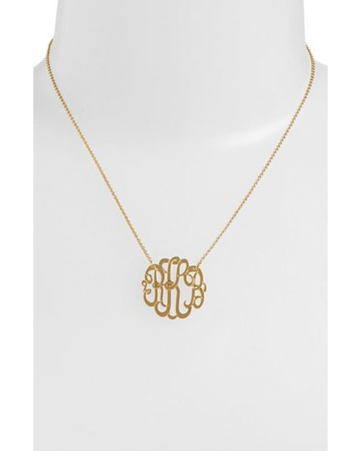 Argento Vivo   Metallic Personalized Small 3-initial Letter Monogram Necklace (nordstrom Exclusive)   Lyst