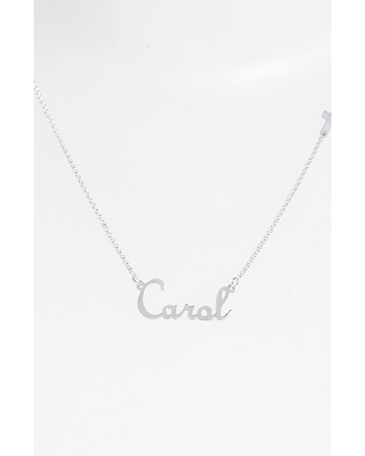 Argento Vivo | Metallic Personalized Script Name With Cross Necklace (nordstrom Online Exclusive) | Lyst