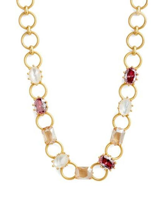Kate Spade - Metallic Stone Necklace - Lyst