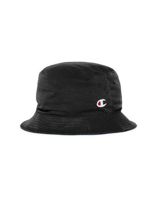 95d803bbc7cf ... promo code for champion black reversible mesh bucket hat for men lyst  dc47d 7c5fa