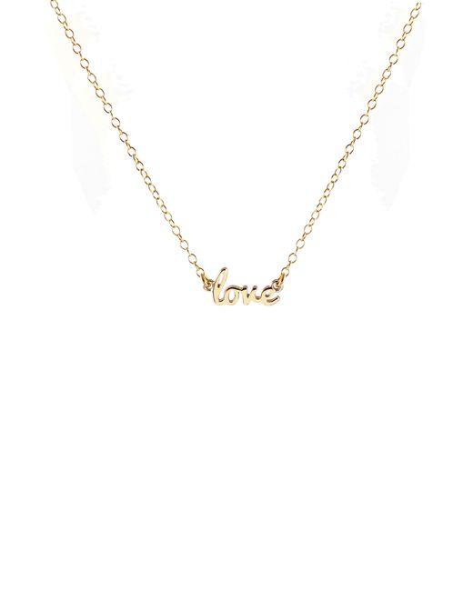 Kris Nations - Metallic Love Script Necklace - Lyst