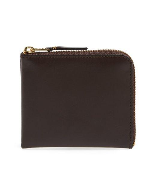 Comme des Garçons | Brown Half-zip Leather Wallet for Men | Lyst