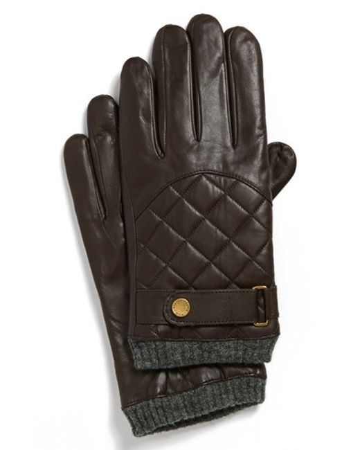 Polo Ralph Lauren | Brown Quilted Racing Gloves for Men | Lyst