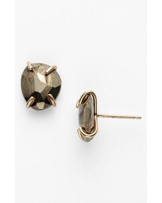 Melissa Joy Manning | Metallic Stone Stud Earrings | Lyst