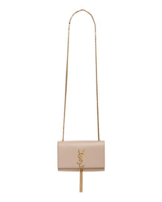 Saint Laurent - Black Kate Tassel Calfskin Leather Shoulder Bag - - Lyst 4e7e541b03a73