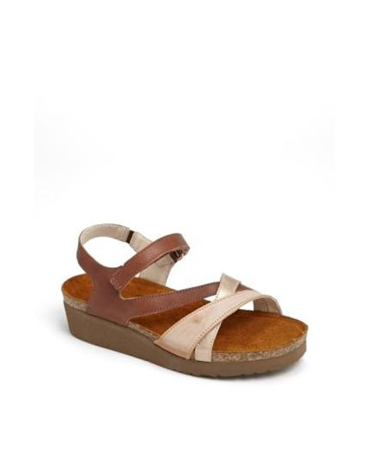 Naot | Brown Sophia Two-Toned Leather Sandals | Lyst