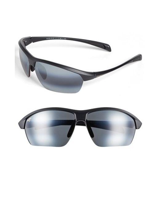 Maui Jim | Black 'stone Crushers - Polarizedplus2' 71mm Sunglasses for Men | Lyst
