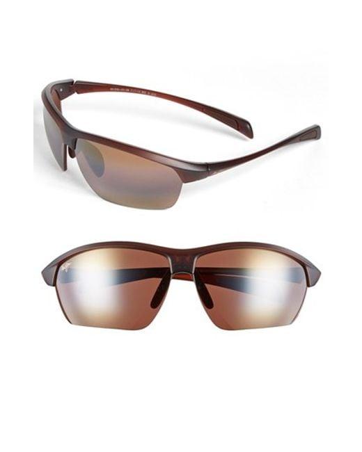 Maui Jim | Red 'stone Crushers - Polarizedplus2' 71mm Sunglasses for Men | Lyst
