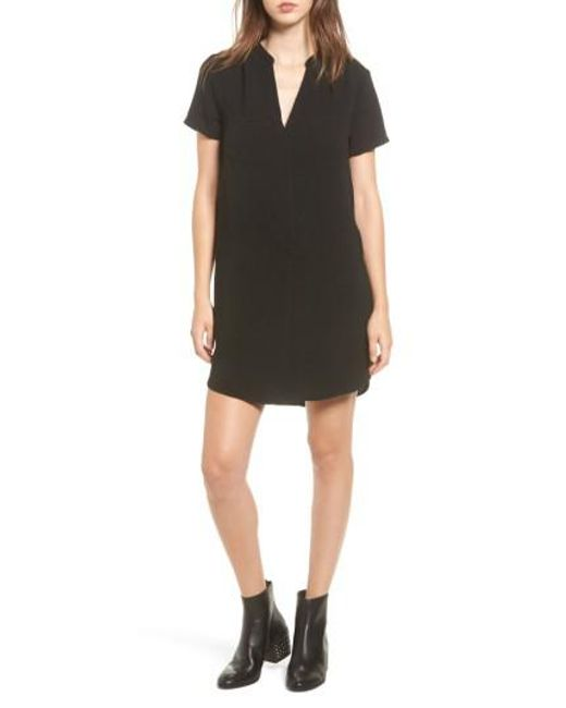 Lush - Black Hailey Crepe Dress - Lyst