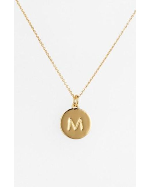 Kate Spade | Metallic 'one In A Million' Initial Pendant Necklace | Lyst
