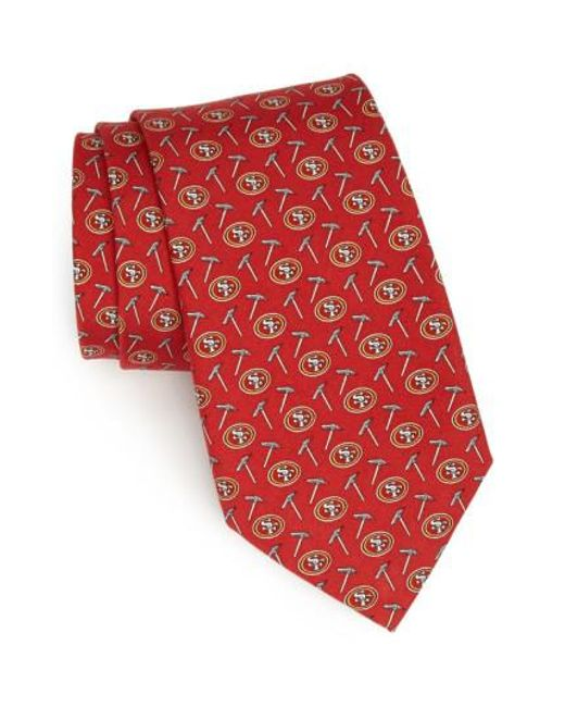 Vineyard Vines - Red San Francisco 49ers Print Tie for Men - Lyst