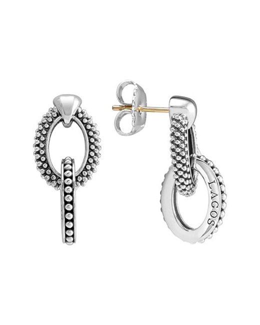 Lagos | Metallic Caviar Link Drop Earrings | Lyst