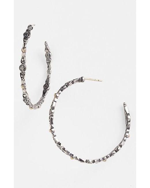 Konstantino   Metallic 'classics' Medium Hoop Earrings   Lyst