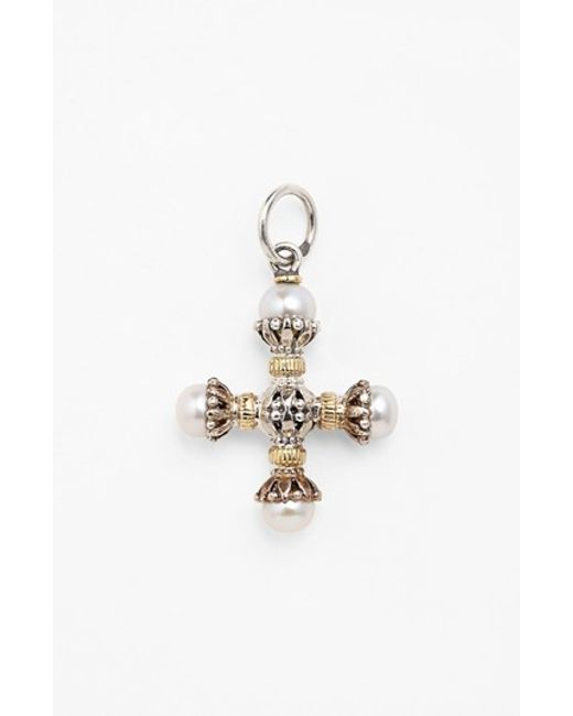 Konstantino   Metallic 'classics' Pearl Maltese Cross Pendant   Lyst